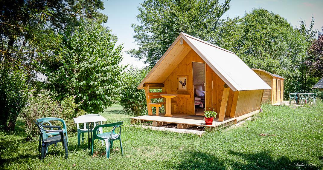 Camping Tournus cabane en bois